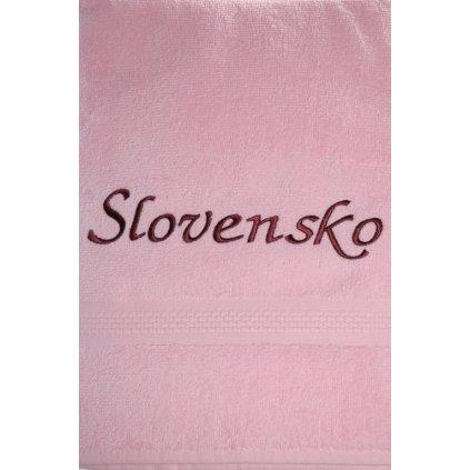Osuška Slovensko - ružová, 70x140cm, PoloTrade (Farba Ružová, Veľkosť 70x140cm)