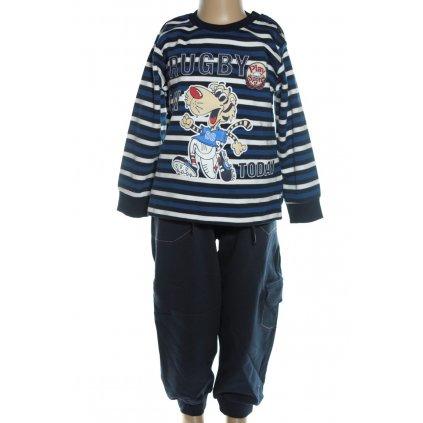 Bavlnená detská súprava - RUGBY (Farba Červená, Veľkosť 80)