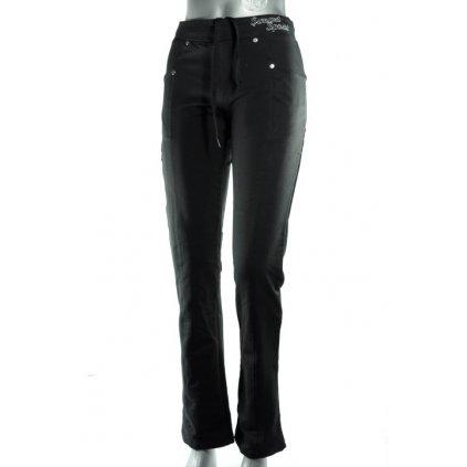 Dámske tepláky Simart so zipsom na boku (Farba Čierna, Veľkosť XL)