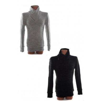 Pánsky teplý sveter so zipsom (Farba Čierna, Veľkosť S)