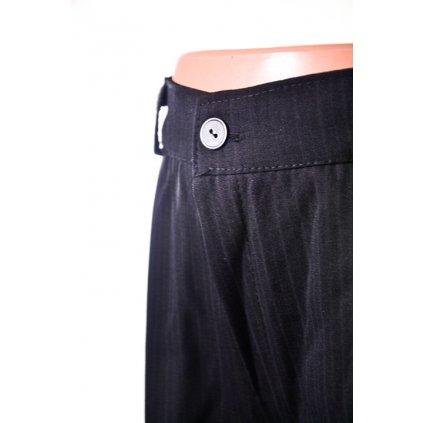 Detské oblekové nohavice - pásik (Farba Čierna, Veľkosť 110)