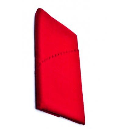 Teflónový obrus oválny 140x120cm, lesklý, zúbkovaný okraj, PoloTrade (Farba Červená, Veľkosť 140x220cm)