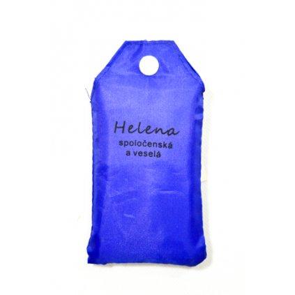 Nákupná taška s menom HELENA - spoločenská a veselá (Farba Červená, Veľkosť 15L)