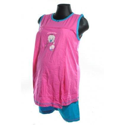 Dvojdielne tehotenské pyžamo - Little sweety (Farba Tmavoružová, Veľkosť S)