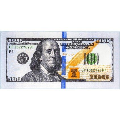 Osuška nová 100 dolárová bankovka 70x148cm, PoloTrade (Farba Svetlošedá, Veľkosť 148x70cm)