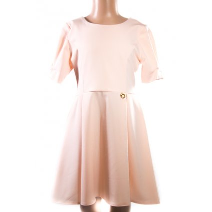 Dievčenské šaty s mašľou vzadu (Farba Krémová, Veľkosť 110)