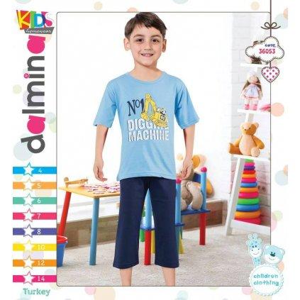 Chlapčenské pyžamo - bager (Farba Šedá, Veľkosť 4r)