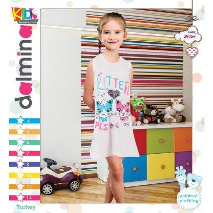 Detská nočná košeľa - 2 mačičky, C-9-39054 (Farba Ružová, Veľkosť 4r)