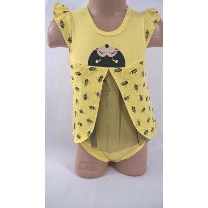 Detské body - včielka (Farba Žltá, Veľkosť 1r)