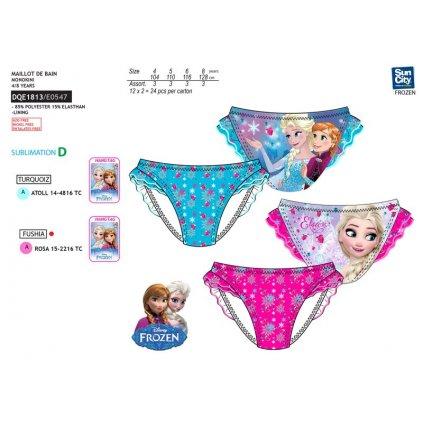 Detske FROZEN plavky volán - nohavičky monokiny (Farba Tyrkysová, Veľkosť 4r)