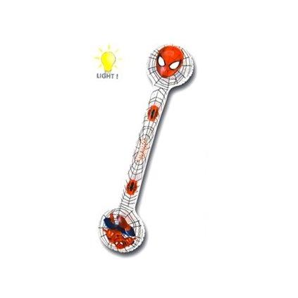 Naafukovacia palica Spiderman 67cm svietiaca (Farba Transparent, Veľkosť 67cm)