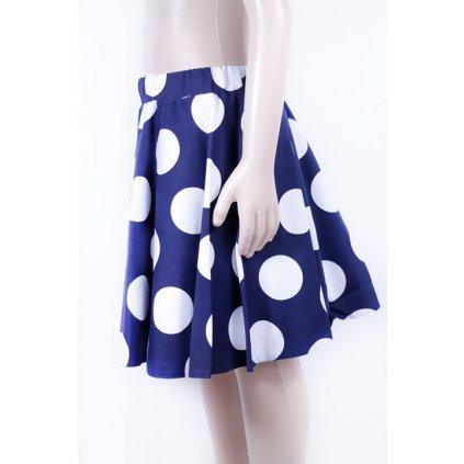 Detská sukňa s veľkými bodkami (Farba Modrá, Veľkosť 116)