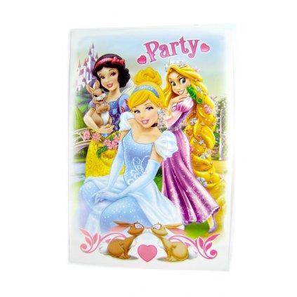 Pozvánka s obálkou Princess 5ks (Farba Multifarebné, Veľkosť 15x10cm)