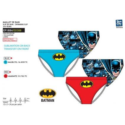 Detské PLAVKY BATMAN - SLIPY (Farba Modrá, Veľkosť 3r)