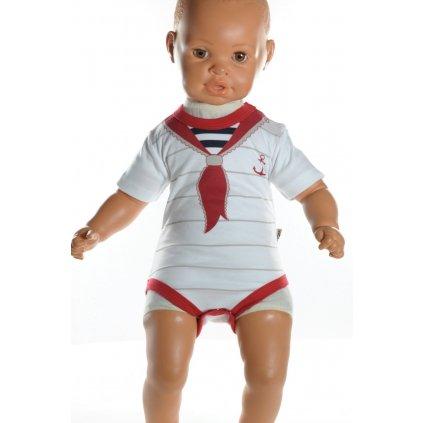 Detské, kojenecké body - námorník (Farba Červená, Veľkosť 1m)