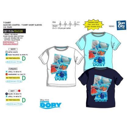 Chlapčenské tričko Hľadá sa Dory, C-2-QE1526 (Farba Biela, Veľkosť 3r)