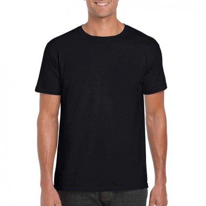 Pánske tričko jednofarebné na potlač, Keya (Farba Červená, Veľkosť S)