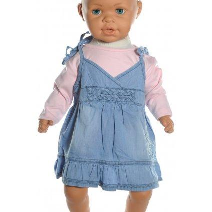Šaty detské - motýľ (Farba Modrá, Veľkosť 92)