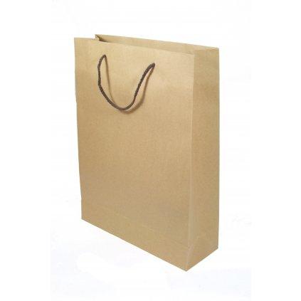 Taška papierová - hnedá 20 x 28 x 10 cm (Farba Hnedá, Veľkosť 28x20cm)