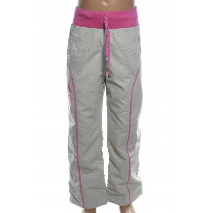 Dievčenské šušťákové nohavice 73Girl (Farba Svetlošedá, Veľkosť 116)