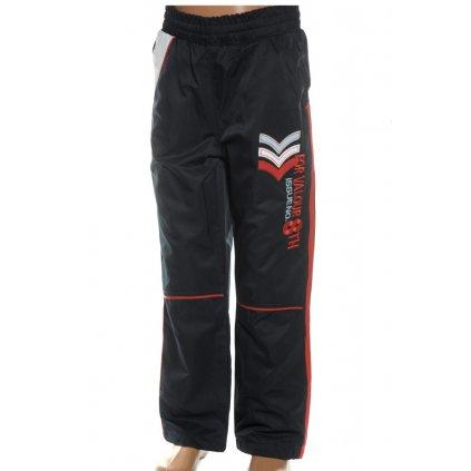 Detské šušťákové nohavice čierne 122 (Farba Čierna, Veľkosť 116)