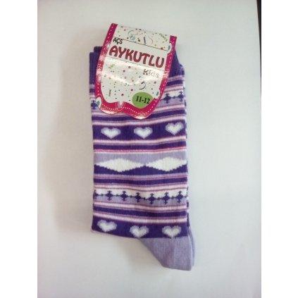 Detské ponožky hviezdy (Farba Ružová, Veľkosť 11/12r)