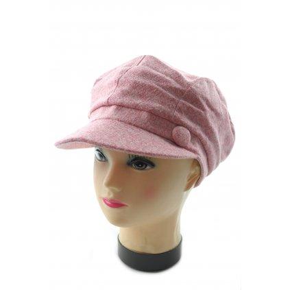 Ciapka-baretka lw176/12ks/600k, C-5-0176 (Farba Ružová, Veľkosť Neurčená)
