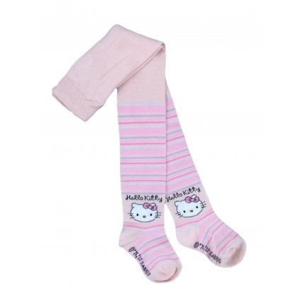 Pančuchy - Hello Kitty orginál s motivom (Farba Svetloružová, Veľkosť 62-74)