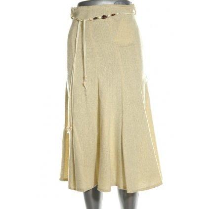 Dámska sukňa (Farba Svetložltá, Veľkosť 36)