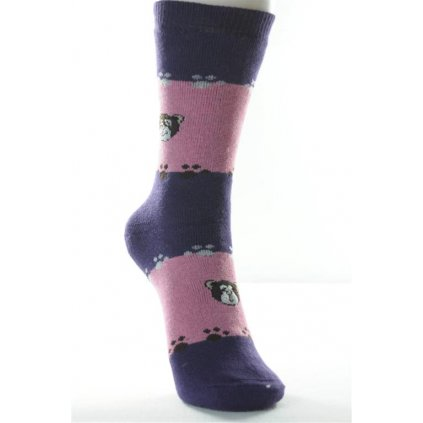 Detské thermo ponožky - tučniak (Farba Svetlomodrá, Veľkosť 5r)