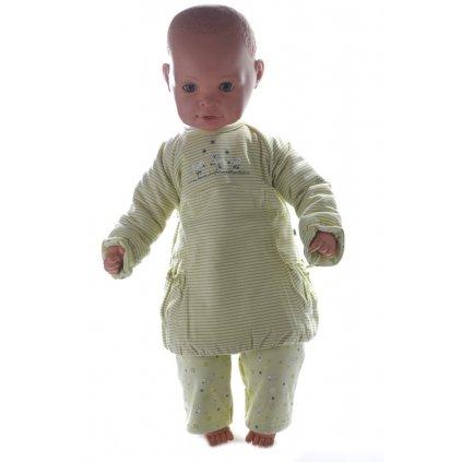Detský, teplý komplet (Farba Zelená, Veľkosť 3m)