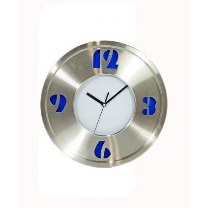 Nástenné hodiny veľké 35cm, nerez (Farba Neurčená, Veľkosť Neurčená)