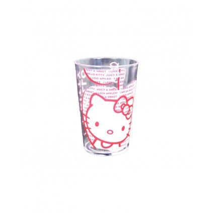Plastový pohár Hello Kitty, PoloTrade (Farba Transparent, Veľkosť 1742 - 10,5*7)