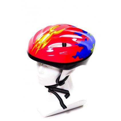 Cyklo prilba pánska - Plameň (Farba Multifarebné, Veľkosť 26x21CM)