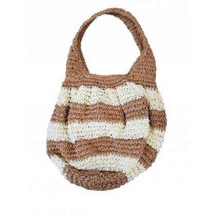 Dámska pletená taška (Farba Svetloružová, Veľkosť P:45cm)