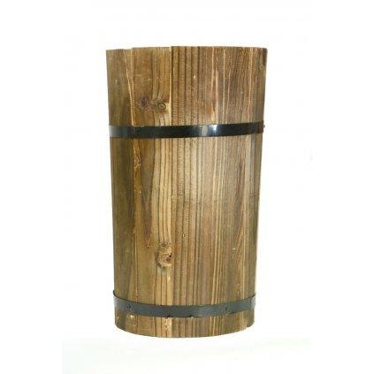 Váza drevená 29cm (Farba Hnedá, Veľkosť 29cm)