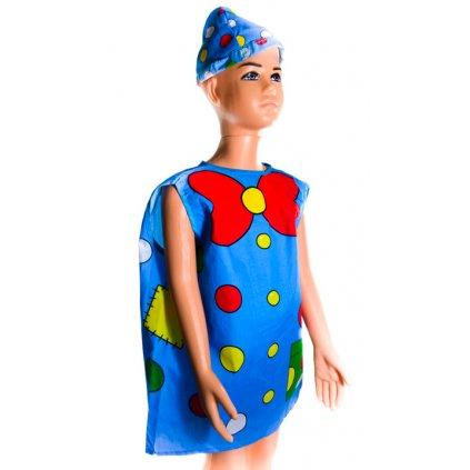 Detský modrý kostým šašo (Farba Neurčená, Veľkosť Neurčená)