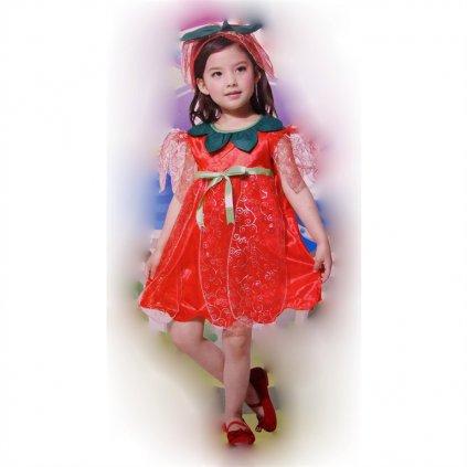 Detský kostým - jahôdka (Farba Neurčená, Veľkosť XL)