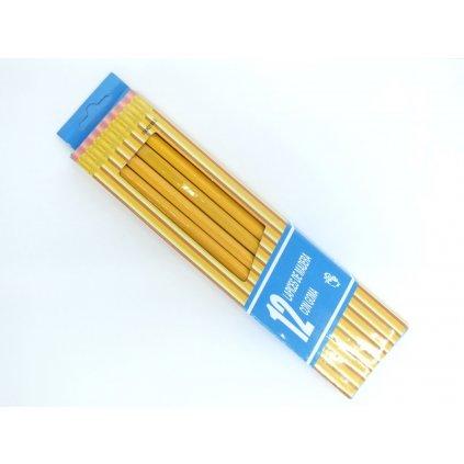 Ceruzky s gumou 12 kusov (Farba Neurčená, Veľkosť Neurčená)