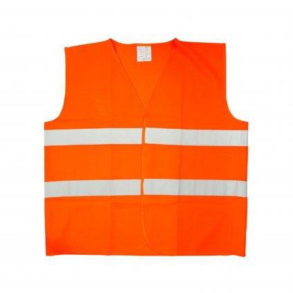 Reflexná vesta - oranžová (Farba Oranžová, Veľkosť L)