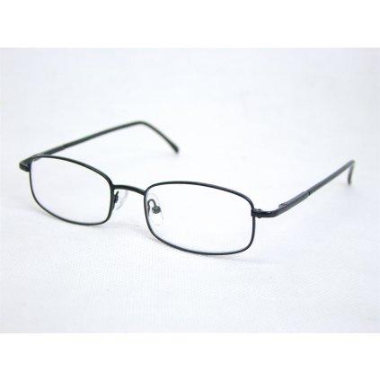 Dioptrické okuliare tenký rám, dioptrie 0,5 až 4,0, PoloTrade (Farba Čierna, Veľkosť 0.5)