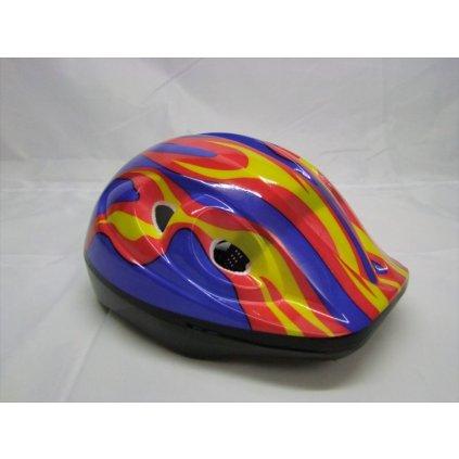 Cyklo prilba detská - Plamienok (Farba Multifarebné, Veľkosť 25x19cm)