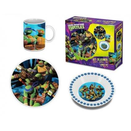 Raňajkový set  detský Turtles 3 dielny (Farba Neurčená, Veľkosť Neurčená)