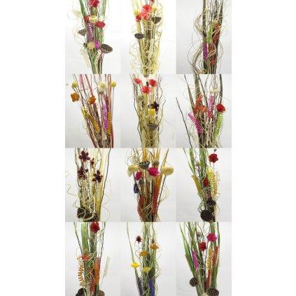 Sušené kvety 120 cm (Farba Multifarebné, Veľkosť 120cm)