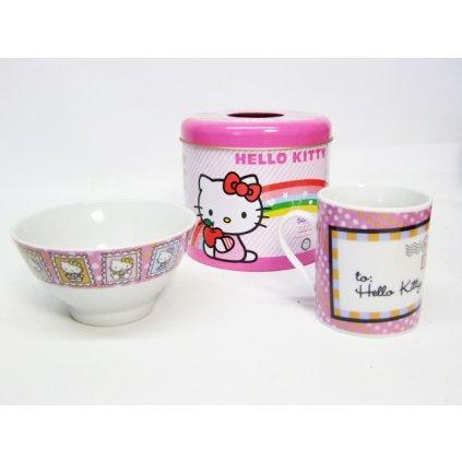 Hello Kitty set - Hrnček a miska v plechovke SET (Farba Neurčená, Veľkosť Neurčená)