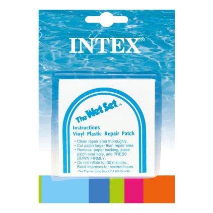 Nalepovacie záplaty na opravu nafukovačiek Intex, 7x7cm, 6ks/bal, transparent (Farba Multifarebné, Veľkosť Neurčená)