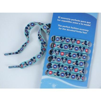 Šnúrky do topánok - Mickey (Farba Modrá, Veľkosť 100cm)