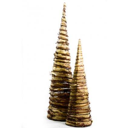 Dekorácia – kužel 2 ks, PoloTrade (Farba Hnedá, Veľkosť 60cm)