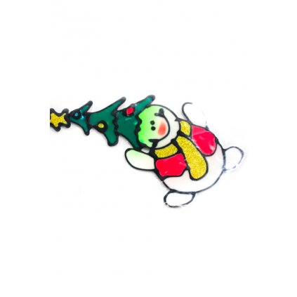 Vianočné nálepky na sklo, C-44-2505 (Farba Neurčená, Veľkosť Neurčená)