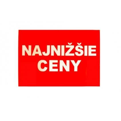 Reklamný pútač NAJNIŽŠIE CENY / ZĽAVA (Farba Neurčená, Veľkosť Neurčená)